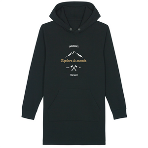robe sweat capuche explore le monde
