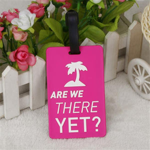 étiquette valise rose are we there yet