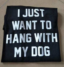 t-shirt-femme-I-want-to-hang-out-with-my-dog-noir