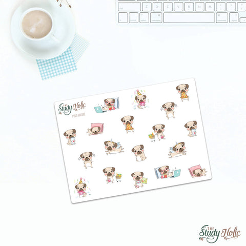 Pug Galore Stickers