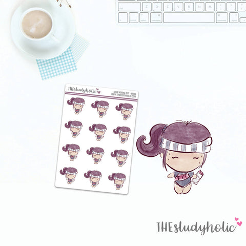 Mimi Workout Stickers