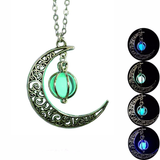 Glowing Moon Necklace - Everyone you know will love this. Makes a great gift too!