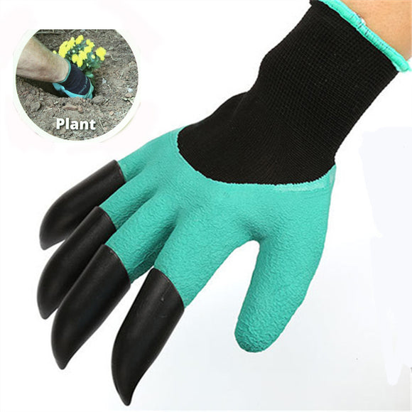 Gardening Genie Gloves (1 Pair), with 4 ABS Plastic Claws - Make gardening easier than ever!