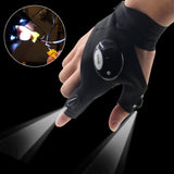 Precision Flashlight Gloves - For camping, or any nighttime activity where you need a little more light!