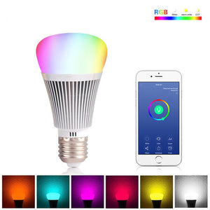 Wifi Smart LED Bulb - Control it with your phone or tablet, change colors and brightness!