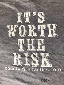CFT It's Worth The Risk Grey Long Sleeve T-Shirt