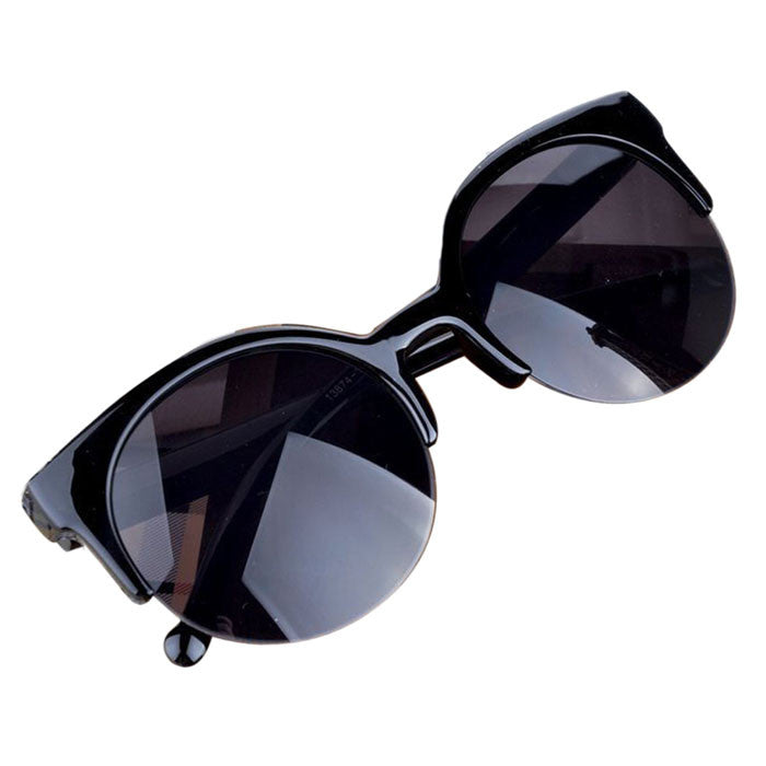 "Cat Eye Sunglasses in, ""Widow"""