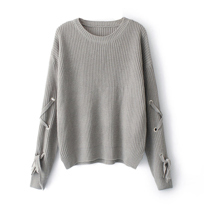 "Women's Loose Knit Sweater in, ""Black"""
