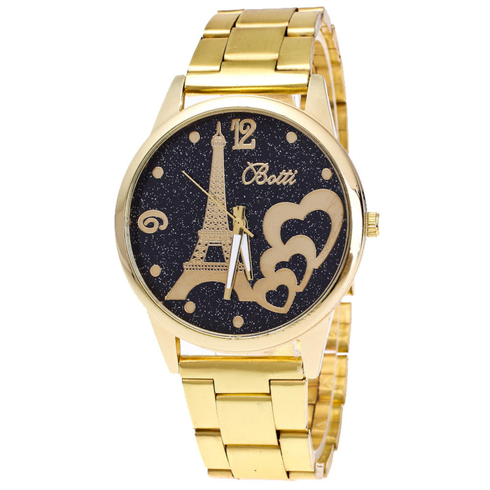 Women's Gold Band Analog Watch