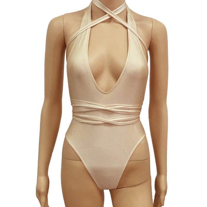 Women's Crossover 1-piece Bathing Suit