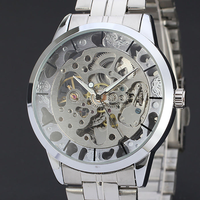 Mens Luxury Hollow Skeleton Automatic Watch