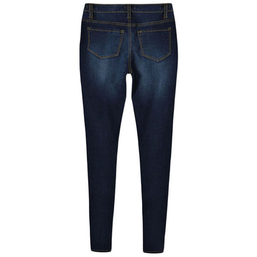 Women's Stone Washed High Waist Skinny Jeans
