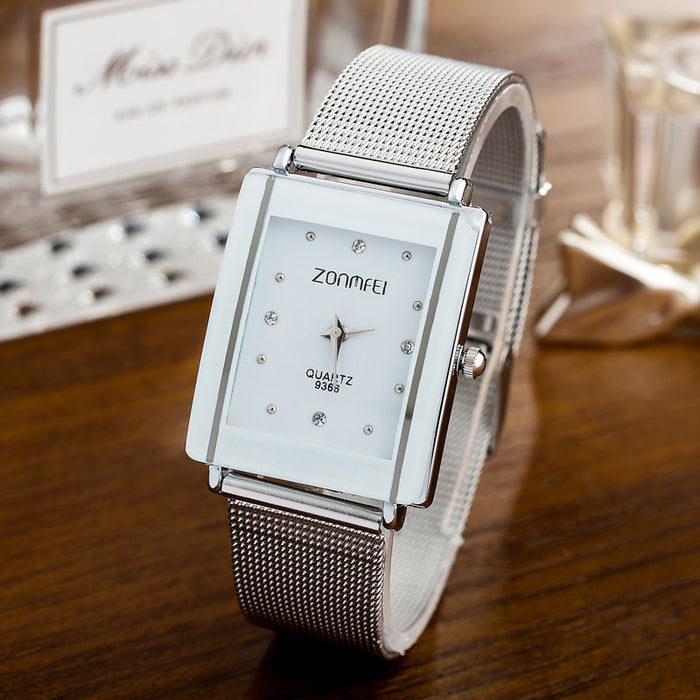 Silver Mesh Quartz Watch