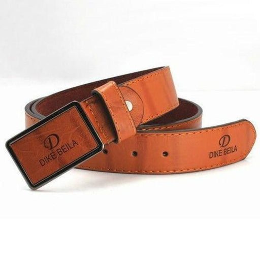 Men's Distressed Faux Leather Belt