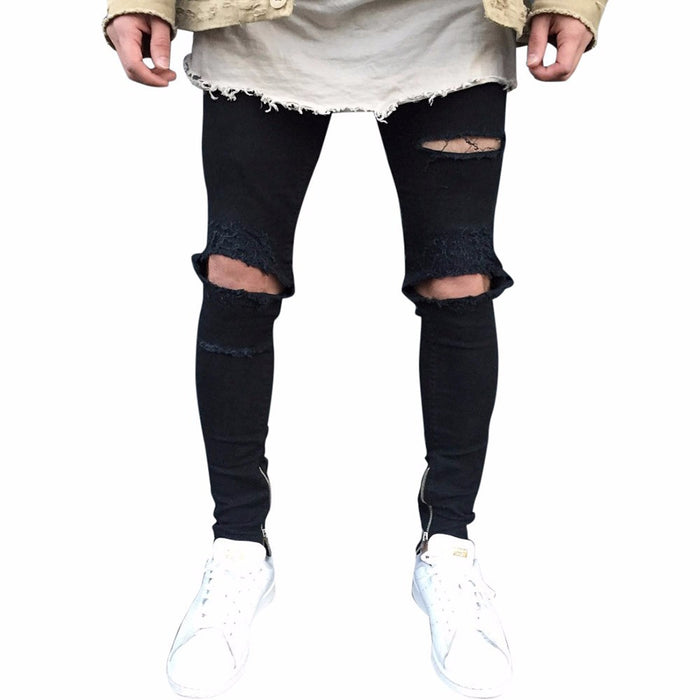 Men's Ripped Slim Fit Jeans