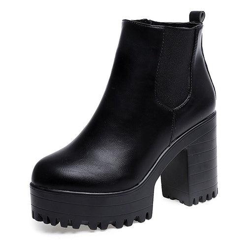 "Women's Platform wedged ankle boots in,""Cadet"""