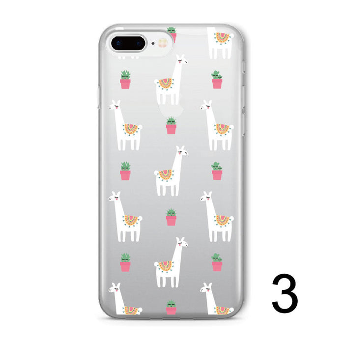 Llama Soft Clear iPhone Cover (Varies Sizes)