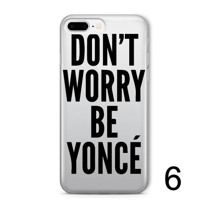 Beyonce Soft Clear iPhone Case Varies Sizes