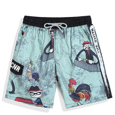New Arrival! Printed Cotton men's Swim Shorts
