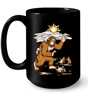 Bigfoot Loves Kitties - Mug