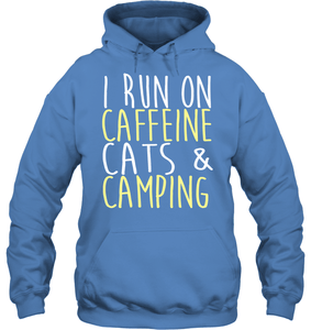 Caffeine, Cats, & Camping - Hoodie or Sweater