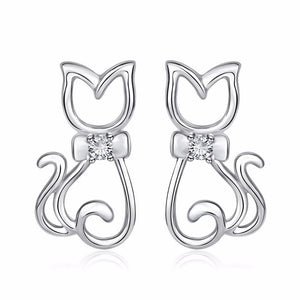 Bow Tie Cat Earrings