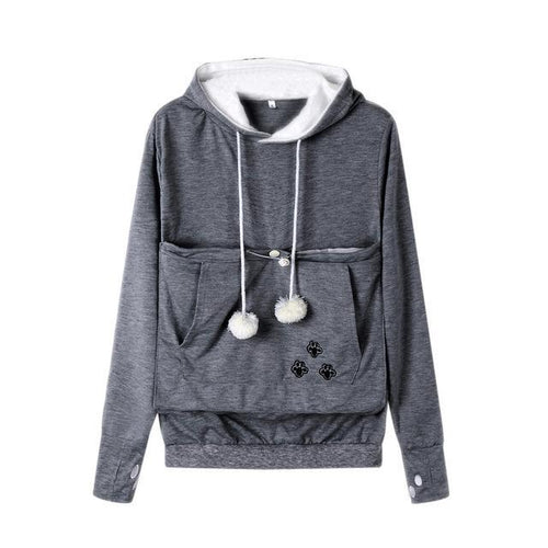 Kitty Pouch Paw-print Hoodie