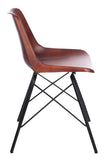 CHAIR CROSS MET/LEATH CAMEL