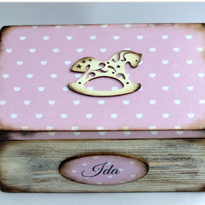 Memory box Gyngehest pink