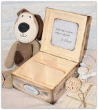 Memory box teddy babyblå