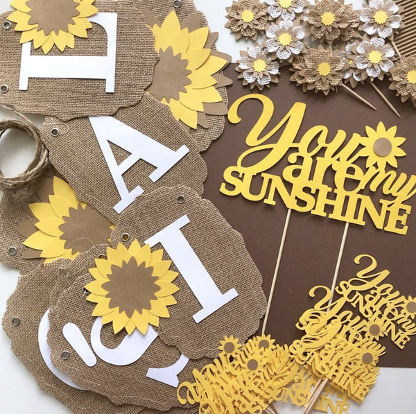 1a1087d867c25 You Are My Sunshine Party Package, Sunflower Party Decoration, Sunflower  Baby Shower, Sunflower Bridal Shower, Party Supplies, Party Box