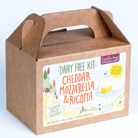 Dairy-Free Cheddar, Mozzarella And Ricotta DIY Cheese Kit