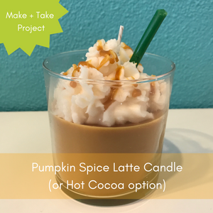 Drop-In Pumpkin Spice Latte Candle Project (or hot cocoa!)
