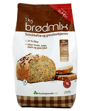 3 x Sukrin Low-Carb Gluten-Free Fibre Bread-Mix