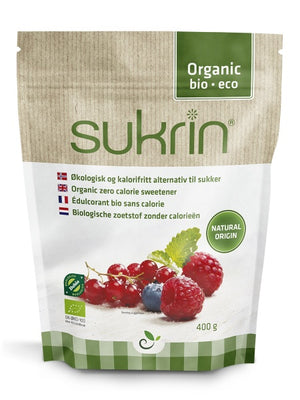 3 x Sukrin Organic Natural sweetener alternative to white sugar zero cal