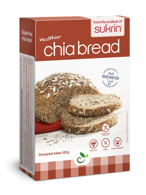 6 x Sukrin Low-Carb Gluten-Free Vegan Chia Bread-Mix