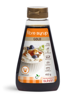 Sukrin Fibre Syrup Gold Prebiotic high fibre low carb inulin syrup alternative
