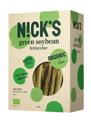 3 x Nicks Low-Carb Pasta Organic High-Protein Gluten-Free Soy Fettuccine