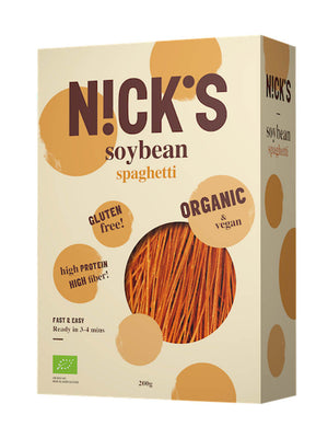 3 x Nicks Low-Carb Pasta Organic High-Protein Gluten-Free Soy Spaghetti
