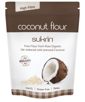 Sukrin Coconut Flour, low-carb GF organic flour for cooking & baking