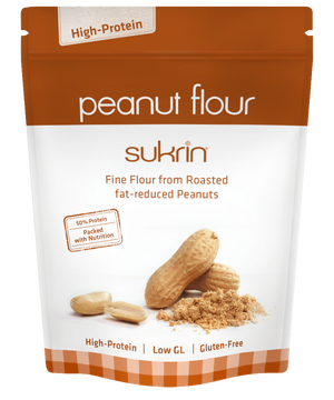 3 x Sukrin High-Protein Low-Carb Peanut Flour Roasted & Low Fat