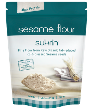 3 x Sukrin Gluten-Free Low-Carb High-Protein Sesame Flour Low Fat & Raw