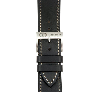 Black Barenia Calf Strap,  Classic Leather,- Clessant France