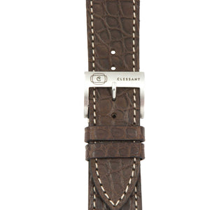 Chocolate Alligator Leather Strap,  Classic Leather,- Clessant France
