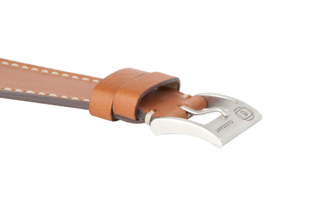 Gold Barenia Calf Strap,  Classic Leather,- Clessant France