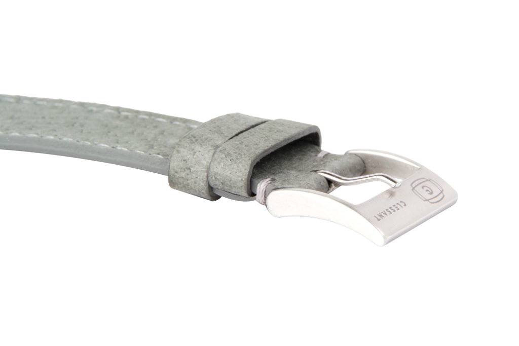 Grey Peccary Pig Leather Strap,  Classic Leather,- Clessant France