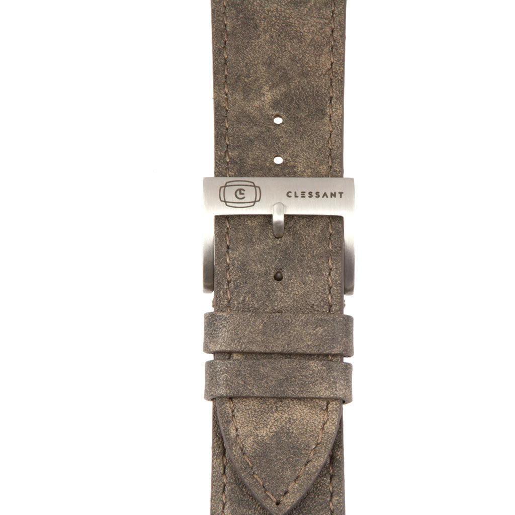 Vintage Calf Leather Strap,  Classic Leather,- Clessant France