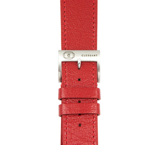 Red Madras Goat Leather Strap,  Classic Leather,- Clessant France