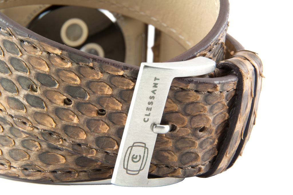 Brown Python Double Tour Strap MTO,  MTO,- Clessant France
