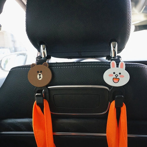 2pcs Back Seat Headrest Hanger Hooks